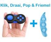 FIDG IT Fidget toys - Fidget Pad - Pop it - Blauw - inclusief boontje