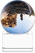 Navaris glazen bol voor fotografie - Fotobol met standaard - Heldere kristallen bal met voet - Lensball Ø 40 mm