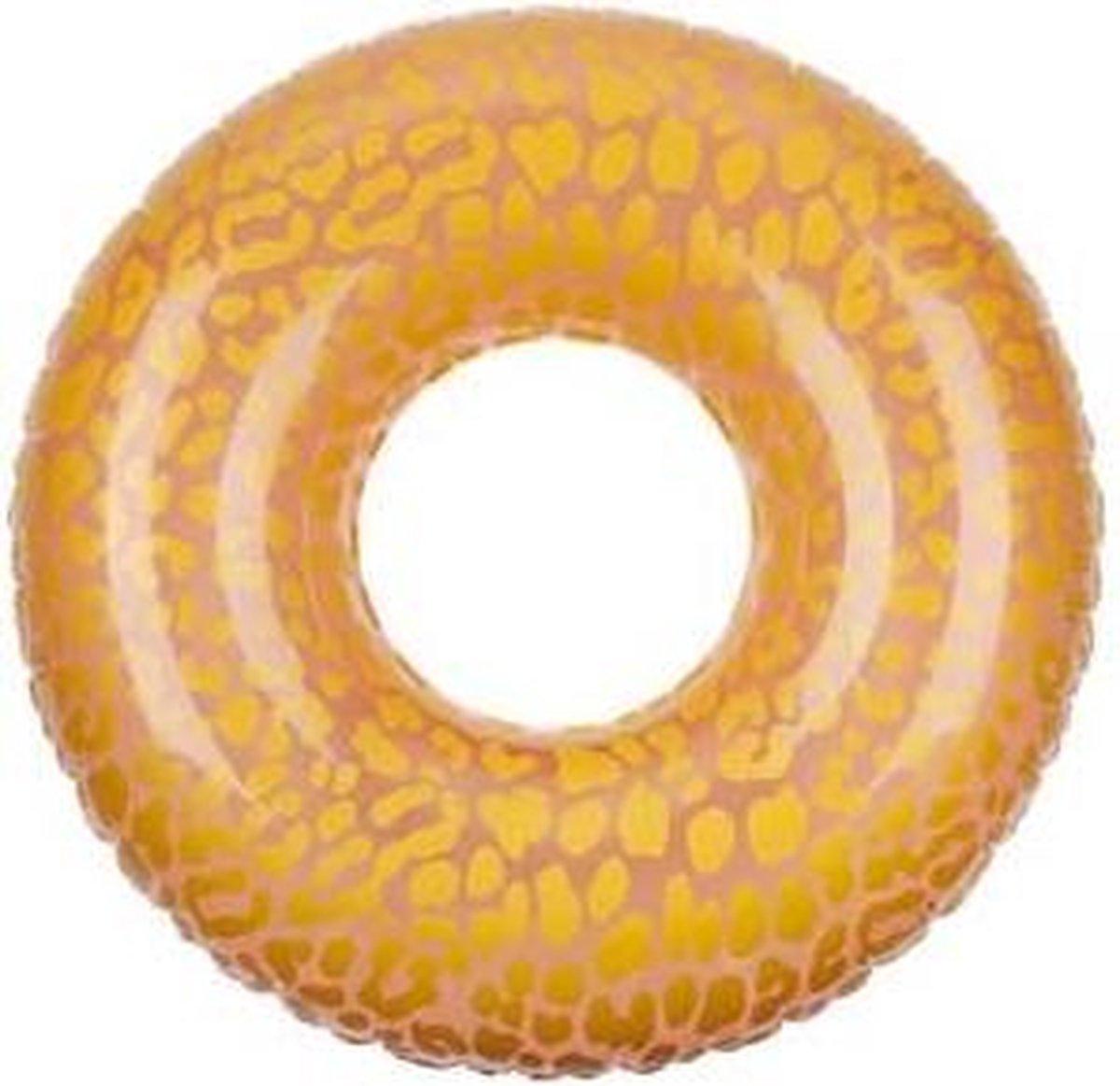 Sunnylife - Zwemband Panter - opblaasbaar - 110 x 110 x 35cm - max 100kg. - Goud