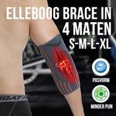 Allernieuwste S Ademende Elleboog Arm Brace - Tennisarm Brace - Atrose Reuma Tennis arm Golf - Sportbrace - Elastisch - Keuze uit 4 Maten