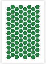 QBIX Zeshoek Patroon Sjabloon - A3 Formaat - Kunststof - Stencil