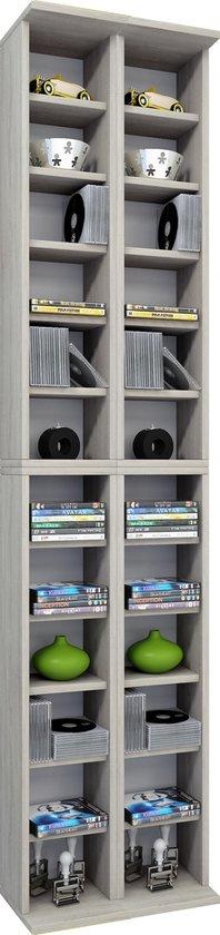 Vcm - CD DVD rekkenkast Almera - Eiken kleur - Vcm