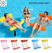 WaterHangmat- Rs&k Waterspeelgoed- Opblaasbare Waterhangmat- Zwembad - Opblaasbaar Voeten en Hoofdkussen stuk - Zwembad Lucht bed