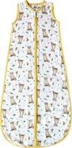 Slaapzak baby 110 cm hydrofiel voor zomer - Baby luipaard print - Super zacht bamboe textiel - Peuter 18 - 36 mnd - Eigen ontwerp geschilderd door Mies