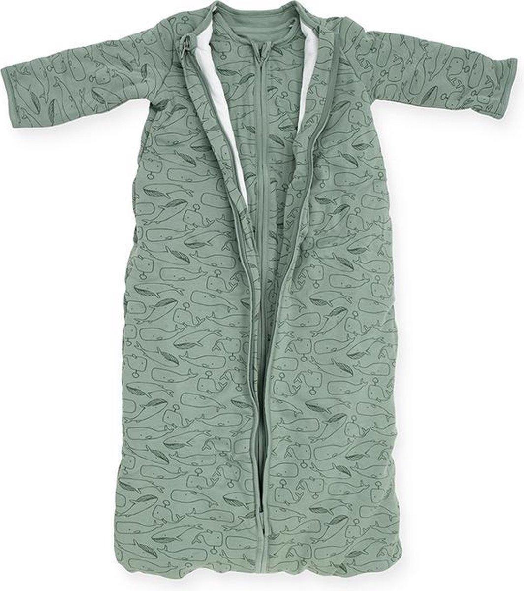 Jollein Baby  slaapzak 4 seizoenen - 90 cm - Whales - ash green