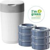 Tommee Tippee Milieuvriendelijke Twist & Click Luieremmer - met 6  Navulcassettes - Wit