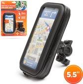 Wheelzone - Telefoonhouder voor op Stuur van Fiets - max. 5,5 Inch Telefoon - Waterdicht Design - 360 Graden draaibaar