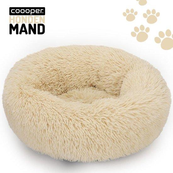 Coooper Donut Hondenmand- Fluffy Hondenmand - 80 cm - XL – Beige – Wasbaar – Pluche