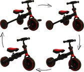 2Cycle 4 in 1 Driewieler-Loopfiets - Rood