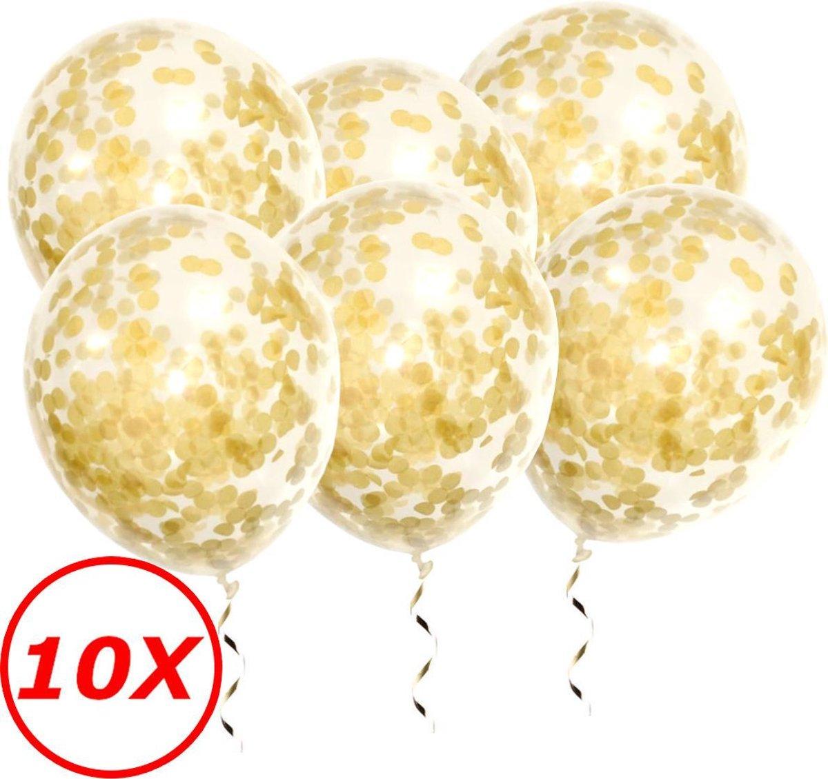Gouden Confetti Ballonnen 10 Stuks Luxe Feestversiering Verjaardag Bruiloft Ballon Goud Papier Confe