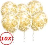 Gouden Confetti Ballonnen 10 Stuks Luxe Feestversiering Verjaardag Bruiloft Ballon Goud Papier Confetti Ballon