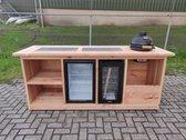 Buitenkeukendeal.nl - Buitenkeuken - Amsterdam - koelkast 68 liter - wijnkoelkast 50 liter - Douglas
