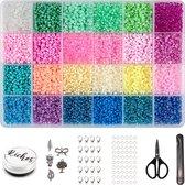 Riches® Kralenset Lifely Colors – 3mm – Glaszaad – Kit voor Sieraden Maken  – Hobby – Volwassenen & Kinderen  – Kralen & Bedels - Kralendoos