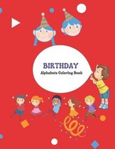 Birthday Alphabets Coloring Book