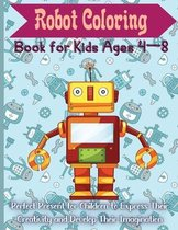 Robot Coloring Book for Kids Ages 4 - 8