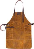 BBQ Schort - Leer - 81x56cm - Vintage Ochre