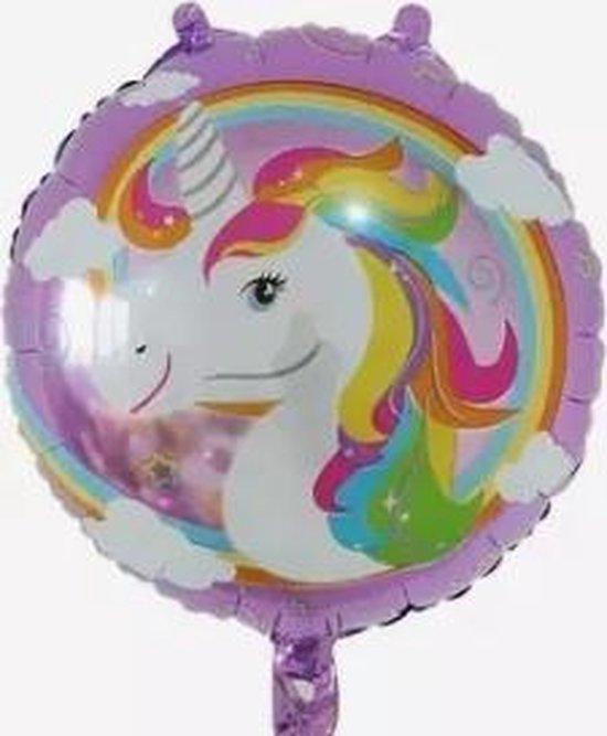 Folieballon Unicorn 18 inch, Paars kindercrea