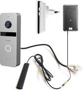 Doorsafe 6666 - Internet camera video deurbel - van robuust metaal - internet via WiFi of netwerkkabel of POE - met draadloze gong DS6601
