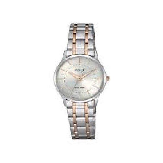Prachtig rose / zilverkleurig dameshorloge model qz61j401y 3 atm waterdicht