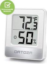 Datoza® Thermo Hygrometer - Luchtvochtigheidsmeter - Digitaal Weerstation Vochtigheidsmeter met Thermometer - voor Binnen