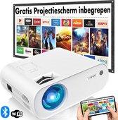 Strydo Mini Beamer B1150 - Inclusief Projectiescherm - Input tot Full HD - 6500 Lumen - Met Bluetooth 5.0 - Afstandsbediening - Streamen Vanaf Je Telefoon met Wifi