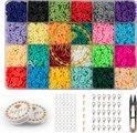 Kralen Set - Katsuki Kralen 4800 stuks - Top Kwaliteit Elastiek Draad - Sieraden Maken Kit - Kralenset -  Zelf Sieraden Maken Kinderen, Meisjes & Volwassenen Pakket
