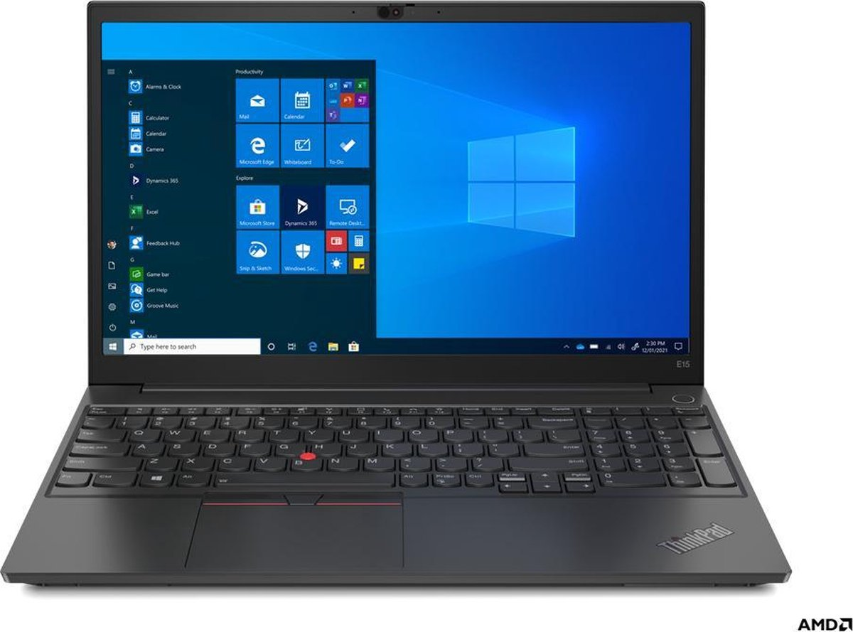 "Lenovo ThinkPad E15 DDR4-SDRAM Notebook 39,6 cm (15.6"") 1920 x 1080 Pixels AMD Ryzen 5 8 GB 256 GB SSD Wi-Fi 5 (802.11ac) Windows 10 Pro Zwart"