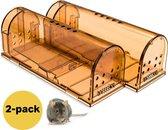 Muizenval Diervriendelijke - Muizenvallen voor Binnen en Buiten - Mouse trap - 2 stuks