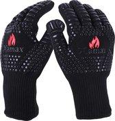 XAMAX® BBQ handschoenen - Ovenhandschoenen - Hittebestendig tot 500°C - Hittebestendige handschoen - 1 paar (2 stuks) - Ovenwanten - EN407 gecertificeerd