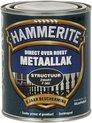 Hammerite Metaallak - Structuur - Zwart - 750 ml