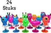 Uitdeelcadeau bouncing monsters 24 Stuks -  Traktatie - Klein speelgoed - Grabbelton - Pinata vulling