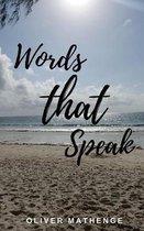 Boek cover Words That Speak van Oliver Mathenge