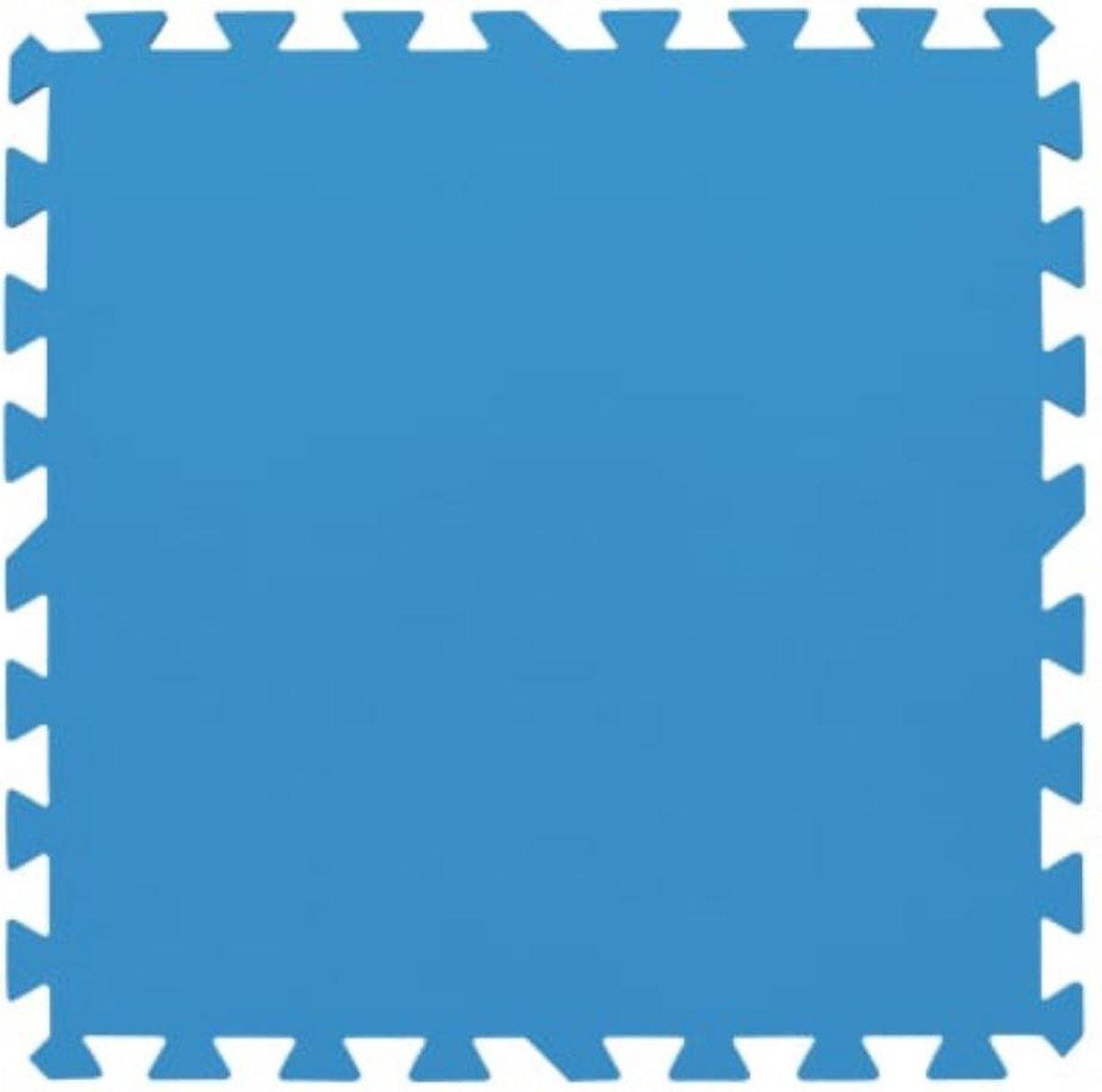 NEKA - Zwembadtegels - Vloertegels - Ondertegels - Fitnestegels - 8 Stuks - 50 x 50 x 0,4 cm - Blauw - Foam
