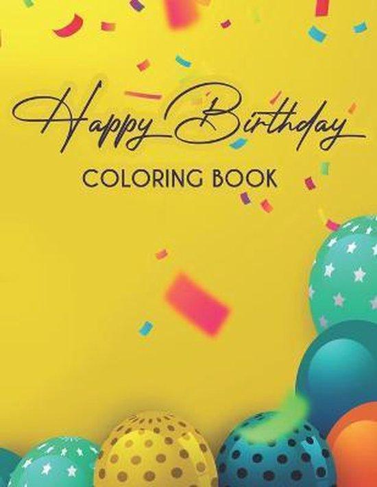 Happy Birthday Coloring Book