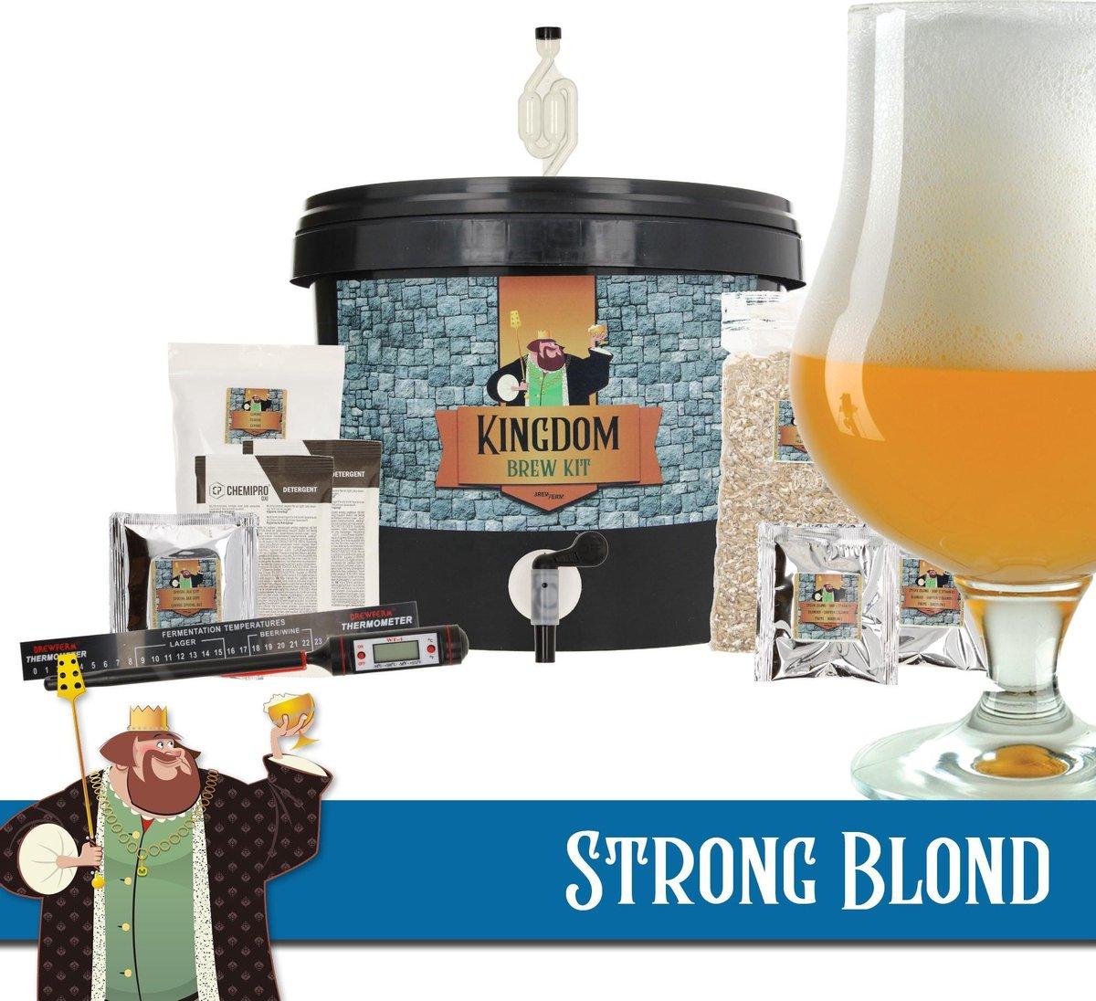 KINGDOM Bierbrouwpakket  - startpakket - Strong Blond - zelf bier brouwen - starterspakket bier brou