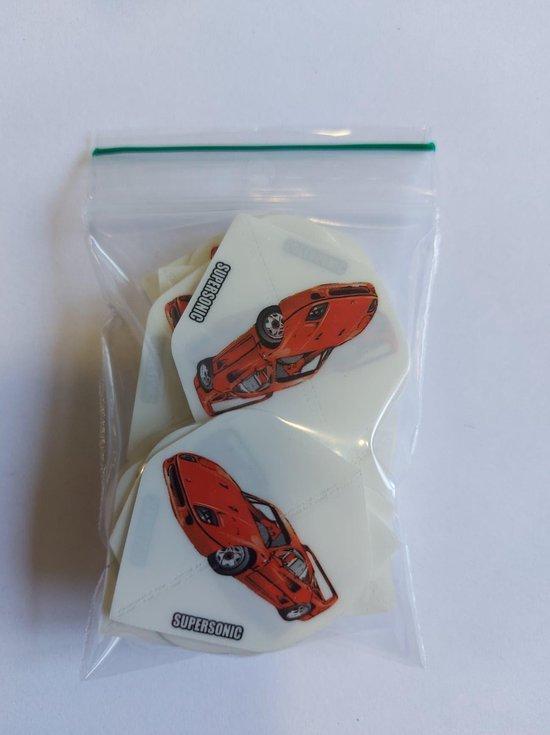 Thumbnail van een extra afbeelding van het spel Supersonic printed Dart Flights - 10 sets (30 stuks) - 100 micron dik