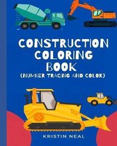 Construction Coloring Book (Number Tracing And Color)