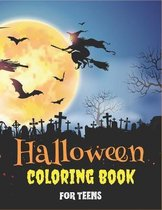 Halloween Coloring Book for Teens