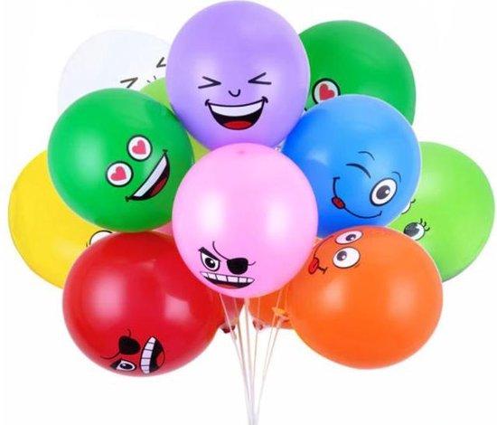 10 stuks  Latex Ballonnen  Leuke Grappige set  vrolijke gezichten  smileys