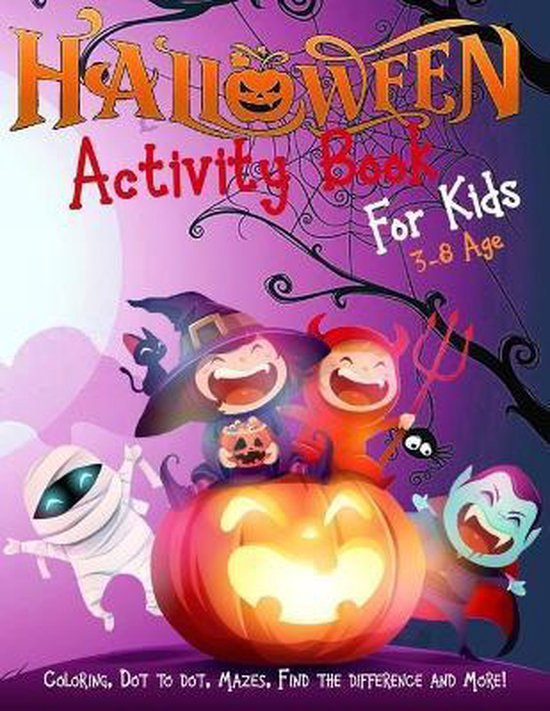 Halloween Activity Book for Kids Ages 3-8