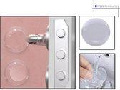 FSW-Products - Zelfklevende deurbeschermers - 2 Stuks - Transparant - 5cm dia - Afgevlakt - Deurbescherming - Deurstoppers - Muurbeschermer - Muurbescherming - Deurstoppers - Siliconen deurstoppers - Deurklink buffers - Deurklink - Stootrubber deur