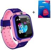 Smartwatch voor Kinderen - Inclusief Simkaart -  Kinder Horloge - LBS Tracking - Meisje - One Size - Roze