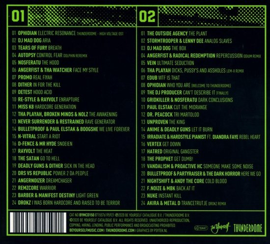 Thunderdome 2020 - High Voltage (2CD)