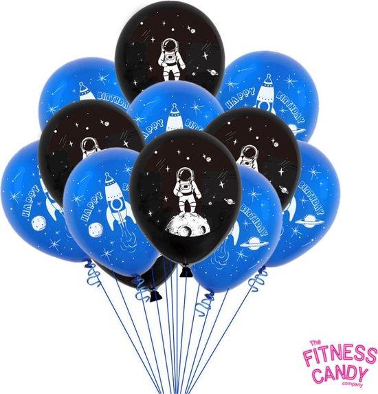 Astronaut ballonen verjaardag - Set van 10