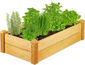 relaxdays Moestuinbak hout - kruidentuin - plantenbak - zandbak - kweektuin - minigarden