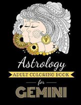 Astrology Adult Coloring Book for Gemini