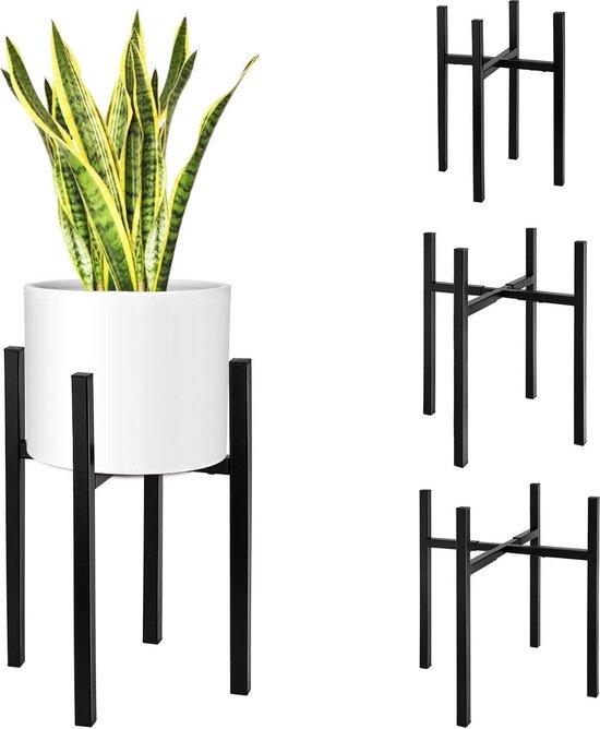 Plantenstandaard Binnen - Verstelbare Breedte en Hoogte - Universeel - Metaal Zwart - Media Evolution®