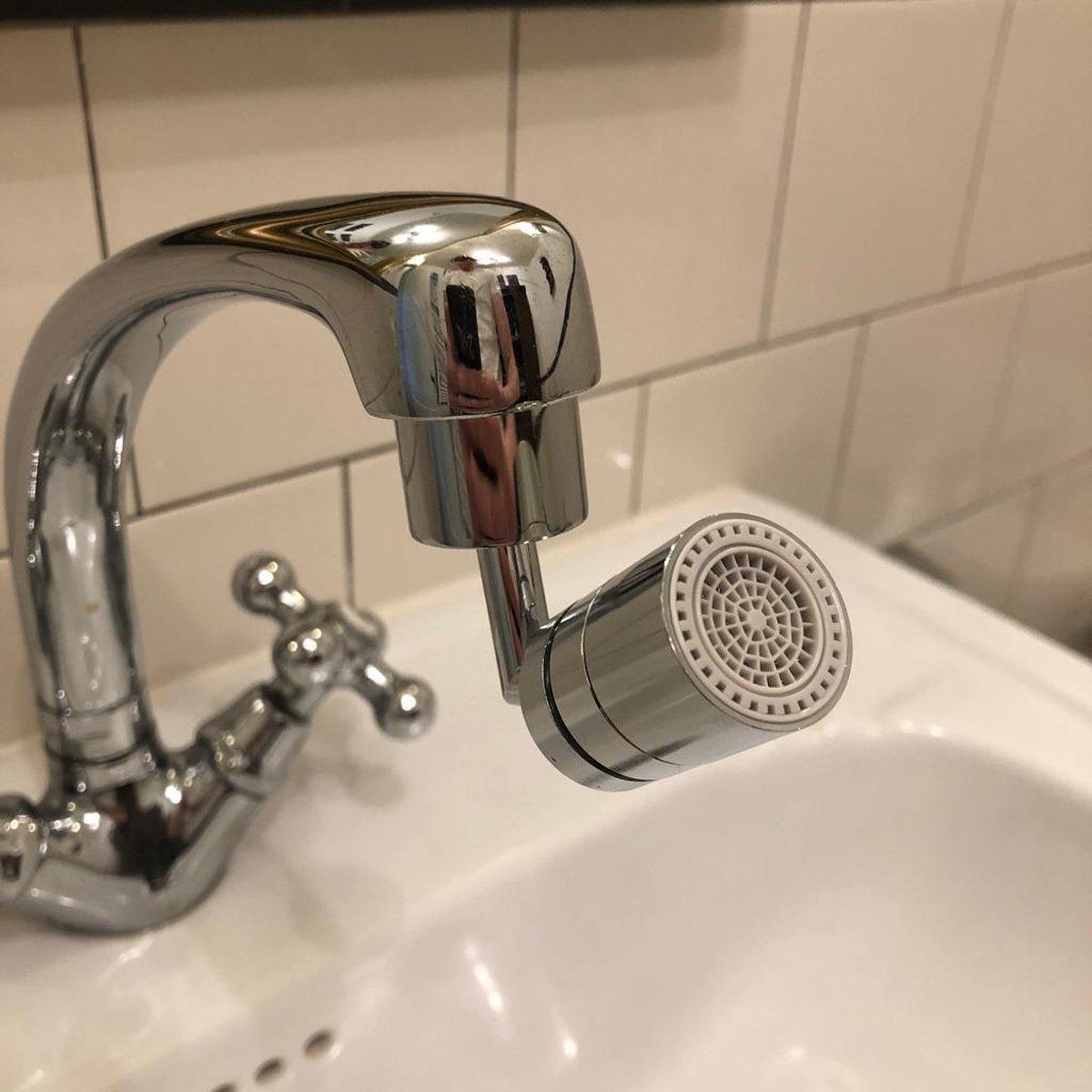 Draaibare 720 graden kraan met 2 sproeistanden   opzetstuk kraan draaibaar   badkamerkraan   keukenk
