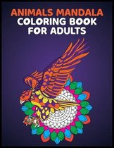 Animals Mandala Coloring Books for Adults