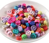 100 stuks Kralen Smiley - 1 cm - Figuurkralen - Kleikralen - Klei Kralen Smiley - Fimo Kralen - Kralen Emoji